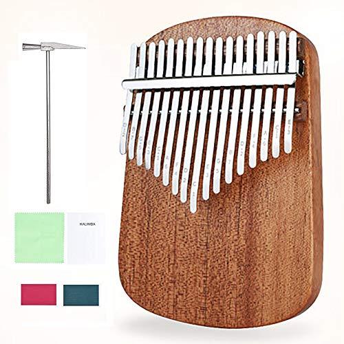 Kalimba 17 Clé Portable Pouce Piano Mbira Acajou Bois Instrument De Musique Professionnel Avec Livre D'Enseignement Tuning Hammer Chiffon De Nettoyage Pour Festival Cadeau