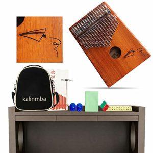 Kalimba Mbira 17 Touches Acacia Pouce Piano Professionnel Instrument De Musique Portable Avec Accessoires Complets Pour Enfants Adulte Classmate Musicien Festival Cadeau Commemorate,A