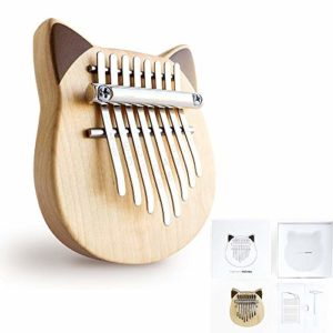 Kalimba Mini White Birch Thumb Piano 8 Key Marimba Instrumento Musical Juguete Para Classmate Kids Principiantes Music Lover Classmate Christmas Festival Gift Conmemorate