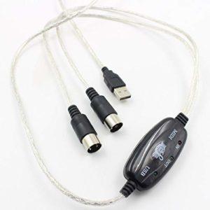 LouiseEvel215 Câble MIDI Ligne d'édition Musicale Câble MIDI vers USB Clavier Câble Audio Câble MIDI