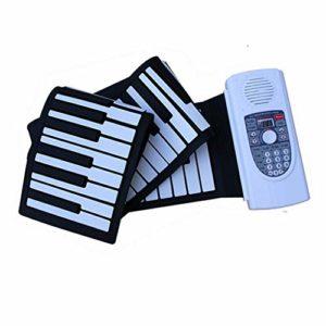 Main Roll Piano 88 Touches, Clavier Intelligent Professionnel Maison Numérique Clavier Clavier Pliant Rechargeable Doux Piano Portable Instrument De Musique De Piano