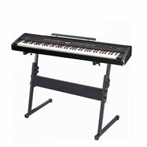 Nai-tripod Clavier Piano Z-Style Stand, Café Hauteur réglable 21.6-34.2 Pouces / 55-87 Centimètres for Rack Electronic Piano (Color : Black)
