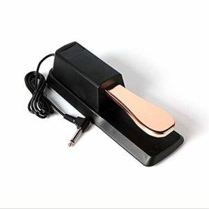Pédale Piano Sustain Piano Style Universel Sustain Pédale Compatible avec Tout Clavier électronique avec 1/4 d'entrée Jack (Color : Rose Gold, Size : One Size)