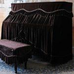 Peng sounded Housse de Protection pour Clavier de Piano Quatre Couleurs European Piano Vertical Parfaitement Flanelle Thicken de Protection Anti-poussière avec Banc de Piano Couverture