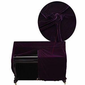 Piano Couverture Or Velvet Piano Parfaitement poussière Couverture Velours Pièces d'instruments de Musique (Color : Purple)