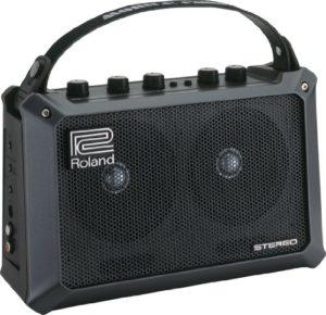 Roland Mobile Cube Amplificateur pour guitare et batterie stéréo sur pile