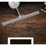 Showlite PL-1-SL-KW Lampe de piano à LED 15 LED Blanc chaud 36 cm de hauteur Fonctionne via USB, courant d'alimentation ou batterie Argenté mat