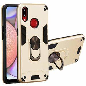 SHUYIT Coque Samsung Galaxy A10s, Étui de Protection PC + TPU Souple Case avec 360° Rotation Aimant Anneau Support de Voiture Antichoc Armure Cover Housse pour Samsung Galaxy A10s -d'or