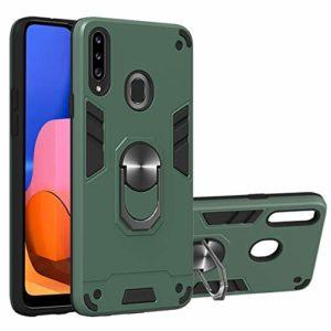 SHUYIT Coque Samsung Galaxy A20s, Étui de Protection PC + TPU Souple Case avec 360° Rotation Aimant Anneau Support de Voiture Antichoc Armure Cover Housse pour Samsung Galaxy A20s -vert