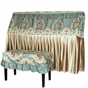 ZDAMN Housse de protection pour piano Nordic Upright Piano Premium en tissu anti-poussière anti-poussière anti-rayures, Tissu, vert, 153x34x120cm-S