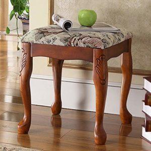 ZDAMN Tabouret de piano en bois massif Style américain Guzheng Tabouret de manucure, Bois dense, Multicolore, 38x38x42cm