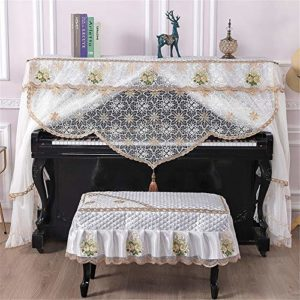 Zhengowen Couverture Piano Piano épais Couverture Simple Piano Atmospheric 148-153cm Tissu Couverture Piano (Couleur : A, Size : S)