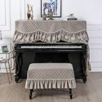 BESTSOON Couverture Piano Piano Cover Couverture Haut de Gamme Piano Dust Cover Piano Couverture Couverture Tabouret Chair Cover Piano Droit Dust Cover (Color : Gray, Size : Universal)