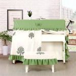 BESTSOON Couverture Piano Piano Cover Couverture Moderne brodé Set Piano Piano Piano Cloth Couverture Couverture Piano Stool Piano Droit Dust Cover (Color : Green, Size : 156 X 36 X 120cm)