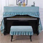 BESTSOON Couverture Piano Universal Classics Pratique Piano Pleine Cloth Couverture Semi-Ouverte poussière à Deux pièces avec Tabouret Couverture for la Maison et l'école Piano Droit Dust Cover