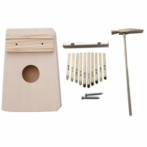 CHENTAOMAYAN 10 clés Kalimba Kit DIY Basse en Bois Thumb Piano Mbira for Handwork Peinture Parents-Enfants Campagne (Color : As Shown)
