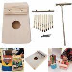 CHENTAOMAYAN 10 clés Kalimba Kit DIY Basse en Bois Thumb Piano Mbira for Handwork Peinture Parents-Enfants Campagne (Color : As Shown)