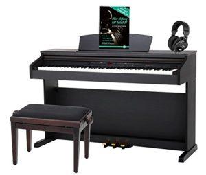 Classic Cantabile DP-50 RH Piano Numérique Bois de Rose avec banc de piano, casque
