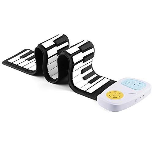 Clavier de piano électronique, Numérique Roll Up Keyboard Piano 49 Touches standard pliables et flexibles Silicium souple électrique for les enfants avec 8 sons 6 morceaux de démonstration Enregistrem