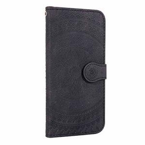 Coque Xiaomi Redmi 8A Porte-Cartes [Béquille] [Fentes pour Cartes] [Fermoir Magnétique] Étui à Rabat Housse en Cuir pour Xiaomi Redmi 8A – TTHM020732 Noir