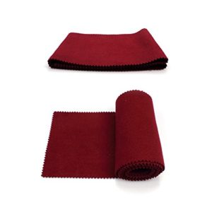 EFORCAR Piano 88 Clavier Housse de protection Dirt-Proof Laine douce 127 X 15cm Pack Of 2 (Rouge)