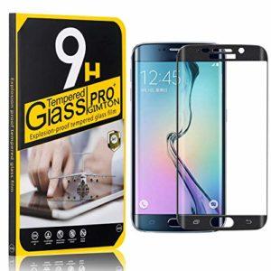 GIMTON Verre Trempé pour Galaxy S6 Edge, Dureté 9H Film Protection Écran Vitre, sans Poussière Protection en Verre Trempé Écran pour Samsung Galaxy S6 Edge, 3 Pièces