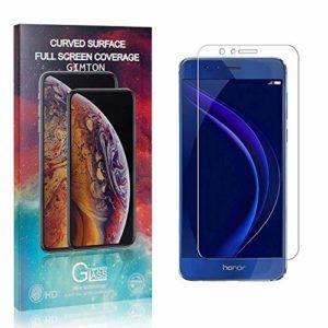 GIMTON Verre Trempé pour Huawei Honor 8, Anti Rayures Protection en Verre Trempé Écran pour Huawei Honor 8, Dureté 9H, sans Bulles, 3D Touch, 1 Pièces