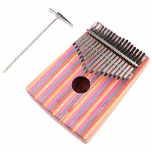 Healifty 1 Set Doigt Pouce Kalimba Piano 17 Clé Doigt Instrument de Piano Portable Instrument de Musique en Bois pour Adultes Enfants Couleur 1