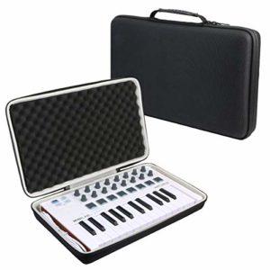 Khanka Dur Cas étui de Voyage Housse Porter pour Arturia MiniLab MK II Contrôleur MIDI universel(boîtier uniquement)