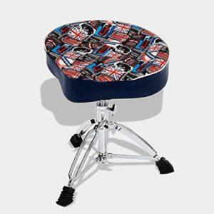 MCRDAE Tabouret Tambour, avec Double-Renforcé rembourré Seat Stool Support Guitariste Drummers Musique Rock Band Chaise, Design Ergonomique, réglable en Hauteur, Une Bonne stabilité 68 (Color : D)