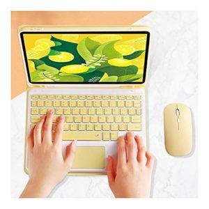 Msleep Étui de protection avec support pour clavier Bluetooth sans fil Jaune