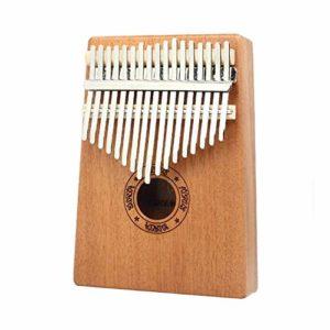 MXX Piano à Pouce-Fabriqué en Bois de camphre de Haute qualité, 17 Touches, Livré avec Un Livre de Musique, Convient aux Enfants/Adultes, Taille 5,3 x 7 Pouces