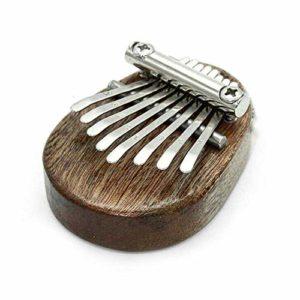 Piano Kalimba à 8 touches en bois, mini clavier portable en bois, instrument de musique, cadeau d'anniversaire pour enfants ou adultes