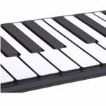 QAQWER Piano Roulé À La Main Clavier Pliable Portable pour Enfants Pratique pour Débutant 88 Touches Adapté Aux Cadeaux De Festival De Musique