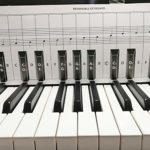 Rubyu Tableau de Notes pour Piano et Clavier derrière Les Touch,Tableau de Notes pour Piano et Clavier pour 88 Touches,Transparent et Amovible, idéal pour Enfants et débutants