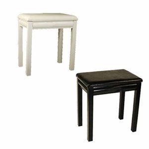 Ryyland-Home Banc de Clavier Universal Piano Banc Noir/Blanc Clavier Chaise en Cuir 61 Touches 88 Touches Tabouret Piano Piano Deluxe Tabouret (Color : White, Size : 44x28x48cm)