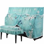 Ryyland-Home Housse de Protection pour Piano Brodé Tissu imprimé Flamant Motif Piano Droit Parfaitement Impression Dyeing Fading Shrinking No Piano Droit Couverture (Color : Blue, Size : 80x40cm)