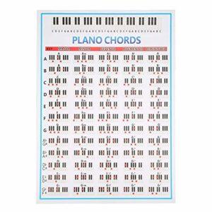 Tableau d'accords de piano à 88 touches, affiche d'accords de piano, accessoires d'instruments de musique pour débutants