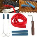 Takson Kit de tuning professionnel pour piano 6 pièces avec clé à molette, sourdine triangulaire, bande de tempérament en feutre, kit de fixation pour piano
