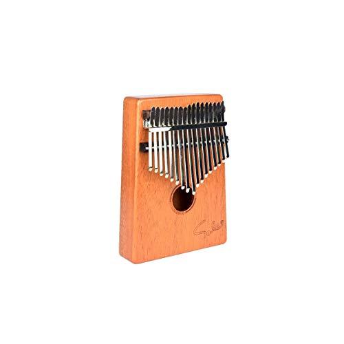 TZZD Piano à pouce Kalimba 17 touches Acacia pur, belle tonalité, facile à transporter et facile à apprendre, la couleur originale du bois, Couleur bois, A