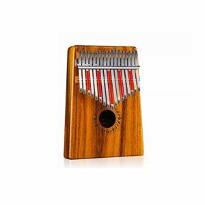 TZZD Piano Kalimba 17 touches en bois d'acacia pur, belle tonalité, facile à transporter et facile à apprendre, la couleur originale du son original de la couleur du bois, Couleur bois, 17