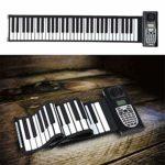 Yuqianqian Clavier de Piano électronique, Piano électronique de 61 Touches for Piano électronique Silicone for Enfants Flexible Musique électronique numérique Clavier for Enfants Mini Volume Soft