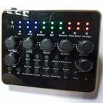 YYZLG V10 téléphone Portable Carte Son Ordinateur karaoké en Direct, enregistreur mélangeur Interface Audio USB Carte Son réglable Intelligente avec Une variété de Sons intéressants