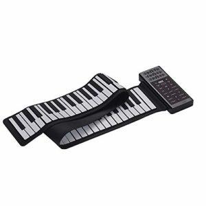 ABMBERTK Piano électrique Portable à 88 Touches, Piano numérique Multifonction, Haut-Parleur intégré, Noir