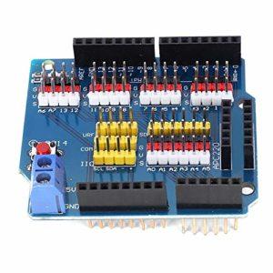 Carte d'extension de capteur avec bouton de réinitialisation LED intégré pour R3 pour composants électroniques en brique électronique
