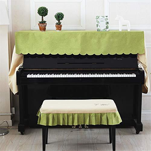 Chendaorong Couverture Piano 148-153cm Piano brodé à la Main Universal Respirante Dust Cover Verticale Standard Pianos (Color : A, Size : S)