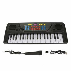 Clavier électronique portable, clavier numérique électrique à 37 touches Instrument de musique pour piano Jouet pour enfants avec microphone