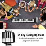 CLISPEED Roll up Piano Clavier 61 Touches Main Roll Piano Musique Clavier Électronique Piano Jouets Éducatifs pour Débutants Cadeau