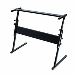 en Forme de Z Stand Piano Portable, 54 61 Clés épaissie et Stand Piano relevable électronique, Stand Instrument Universel (Color : Black)