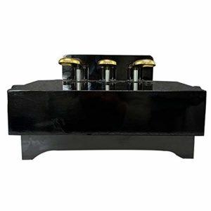EXCLVEA Débutants Extender Bench Enfants Enfants Piano Pédale de Levage Pied Banc Upright Grand Piano électrique Universel Sustain Assist Pédale avec 3 pédales (Couleur : Noir, Taille : 38x35x28cm)